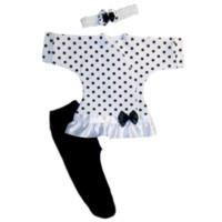 Baby Girls' Black Polka Dot Fun Dress