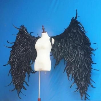 Big Angel Wings Black Feathers Cosplay Game Party Wedding White
