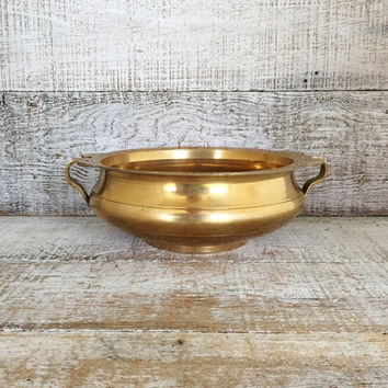 Brass Planter Vintage Brass Bowl Art Deco Planter Garden Container Brass Succulent Planter Gold Planter Gold Bowl Brass Nut Bowl Centerpiece