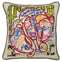 Acadia Hand Embroidered Pillow