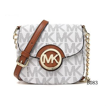 Michael Kors MK Leather Chain Crossbody Shoulder Bag Satchel