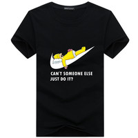 Homer Simpson sleeping Can't someone else just do it nike parody tee t-shirt