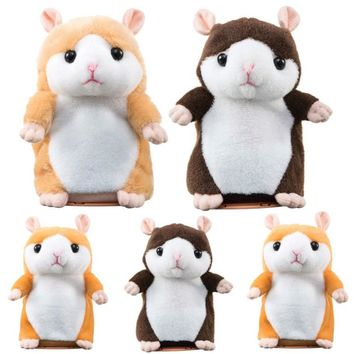 MUQGEW 2017 New Arrival Hot Sale  Adorable Interesting Speak Talking Record Hamster Mouse Plush Kids Toys Present Doll Toy