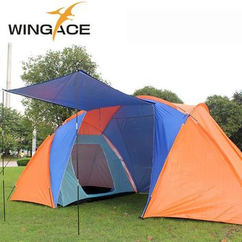 Outdoor tourist tents camping family 4 Person 6 party Beach Two 2 Bedrooms garden large recreation awning camping tent shelter