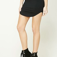 Dolphin Hem Mini Skirt