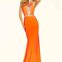 Mori Lee Fitted Jersey Dress 98106