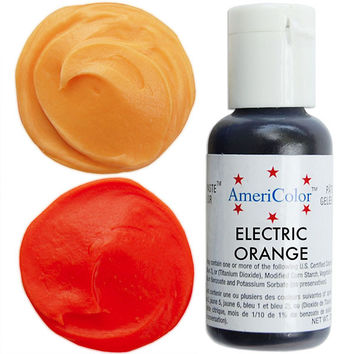Neon Orange Gel Paste Food Color