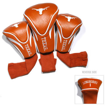 Texas Longhorns Golf Club 3 Piece Contour Headcover Set