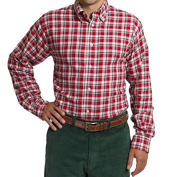Straight Wharf Button Down in Plaid Cinnamon by Castaway Clothing - FINAL SALE
