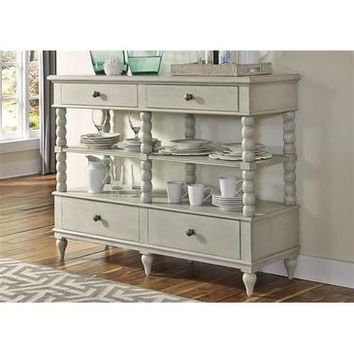 Liberty Furniture Harbor View Sideboard in Dove Gray Finish