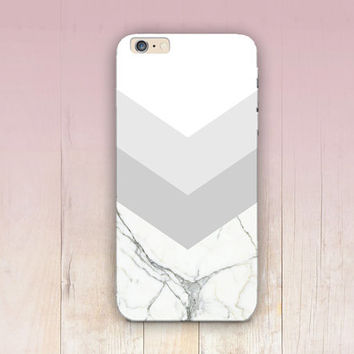 Grey & White Marble Print Phone Case - iPhone 6 Case - iPhone 5 Case - iPhone 4 Case - Samsung S4 Case - iPhone 5C - Tough Case - Matte Case
