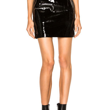Alexandre Vauthier Patent Leather Skirt in Black | FWRD
