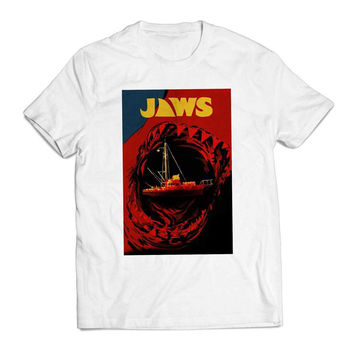 Jaws Classic Poster Movie Clothing T shirt Men