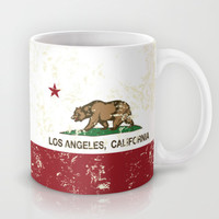 California Flag Los Angeles distressed  Mug by NorCal