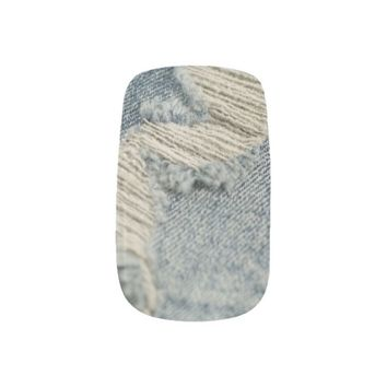 jeans background minx® nail wraps
