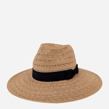 San Diego Hat WOMENS ULTRABRAID WITH GOLD PANAMA FEDORA