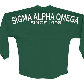 Sigma Alpha Omega // Since Jersey // Choose Your Colors // Sorority Oversized Jersey