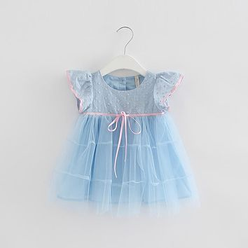 Dresses For Girls 2018 Girl Solid Dress Kids Summer Cute Dresses For Baby Girl Toddler Dress Child Clothes 3 Color 0-2T