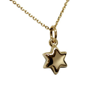 Gold Star of David Necklace - Tiny Star Necklace -  Dainty Necklace - Jewish Star - Gold Star Necklace - 14K Yellow or White Gold w/ Chain