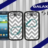 Samsung Galaxy S3 - Best Friends - Infinity Chevron - Two Case Set