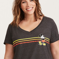 Disney Mickey Striped V-Neck Tee
