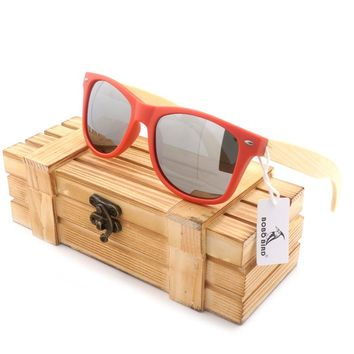 Recommend Star Fashion Natural Bamboo Wood Sunglasses Original Hand Made Unisex Ultraviolet Infrared Rays Wood Glasses Frame