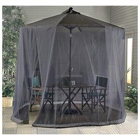Outdoor Umbrella Table Canopy Screen Garden Patio 9-Foot Canopy