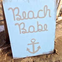 Beach Nursery Sign, Beach Nursery Decoration, Nautical Nursery, Boy Nursery
