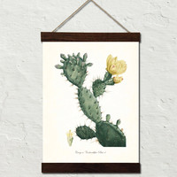 French Cactus Series No. 4 Botanical Canvas Wall Hanging