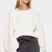 Aim To Sleeve Knit Sweater in Vanilla