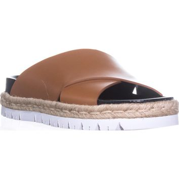 MARNI FBMSW06 Platform Slide Sandals, Brown, 11 US / 41 EU