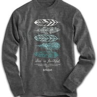 Cherished Girl Feathers God is Faithful Feather Girlie Christian Bright Long Sleeve T Shirt