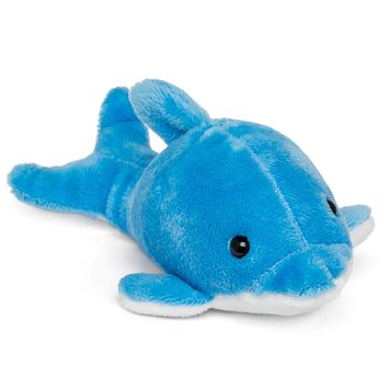 "Single Blue Dolphin Mini 4"" Small Stuffed Animal, Ocean Animal Toy, Sea Party Favor for Kids"