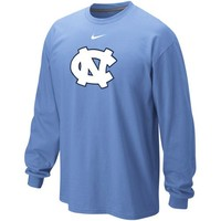 Nike North Carolina Tar Heels (UNC) Classic Logo Long Sleeve T-Shirt - Light Blue