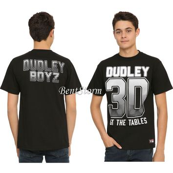 Licensed cool Wrestler Wrestling WWE DUDLEY BOYZ GET THE TABLES Tee T-Shirt MEN'S XL NEW