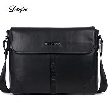 Fashion Men Bags Genuine Leather Messenger Bag Male Business Briefcase Crossbody Bags Male Cover Classic Shoulder Bag Man