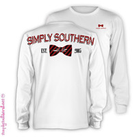 Simply Southern Est 2005 Red Bow Girlie Bright Long Sleeve T Shirt