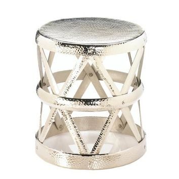 Hammered Drum Accent Table/Stool
