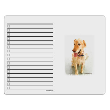 Golden Retriever Watercolor To Do Shopping List Dry Erase Board