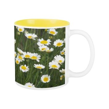 Daisy Daze Floral Two-Tone Coffee Mug