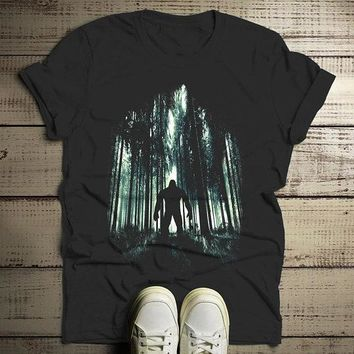 Men's Cool Bigfoot T-Shirt Forest Sasquatch Tee Grunge Hide Seek Hipster