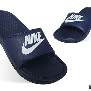 New Mens Nike BENASSI JDI (343880-403) US Sz 7~11 Nike Sandals Nike Slippers