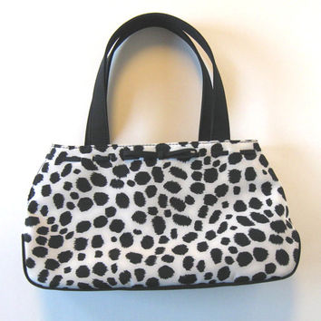 Vintage LIZ CLAIBORNE animal print purse, Bags and Purses, Woman's accessory, Black and White