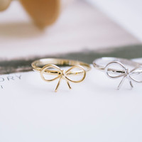 knot ribbon rings/adjustable rings/knuckle ring/stretch rings/knot ring/bow ring/cute rings/rings for women/sister rings