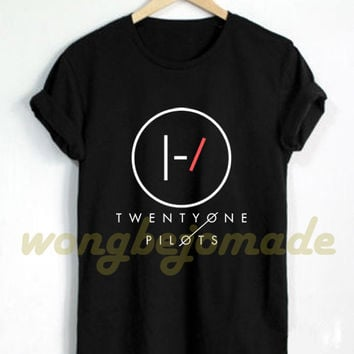 Twenty One Pilots Shirt Stressed Out Song Lyrics Album Music Tyler Josh Duo Rock Pop Black Grey Navy and White Color Tshirt