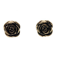 Bronze Rosebud Post Earrings