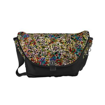 Colorful Abstract Patterns Small Messenger Bag