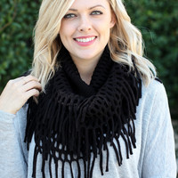 Fringe Play Scarf - Black