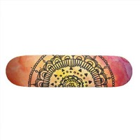 Warm Sun Mandala Skateboard By Megaflora from Zazzle.com