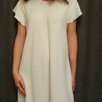 Short Sleeve 3/4 Length Nightgown Cotton/Poly Basket Weave Made In USA | Simple Pleasures, Inc.
